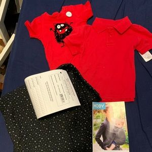 Baby boy gift set bundle - with NWT Moby wrap